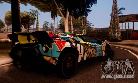 Lamborghini LP750-4 2013 Veneno Stikers Editions for GTA San Andreas back view