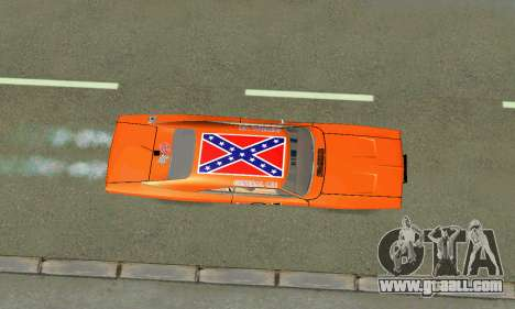 Dodge Charger General lee for GTA San Andreas inner view