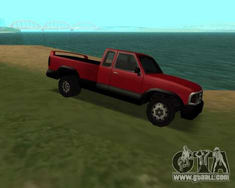 New Pickup for GTA San Andreas back left view