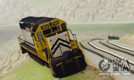 GTA V Trem 2 for GTA San Andreas back left view