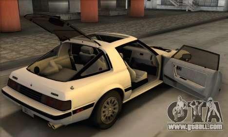 Mazda RX-7 GSL-SE 1985 IVF for GTA San Andreas inner view