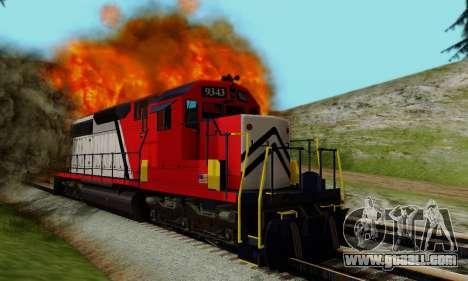 GTA V Trem for GTA San Andreas inner view