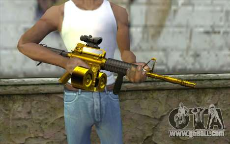 Golden M4 with a shop for GTA San Andreas third screenshot