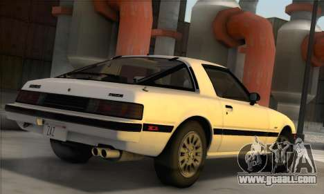Mazda RX-7 GSL-SE 1985 IVF for GTA San Andreas left view