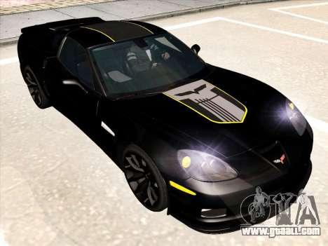 Chevrolet Corvette Grand Sport for GTA San Andreas engine