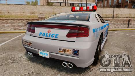GTA V Bravado Buffalo NYPD for GTA 4 back left view