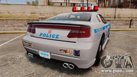 GTA V Bravado Buffalo NYPD for GTA 4 back left view