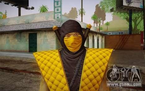 Classic Scorpion из MK9 DLC for GTA San Andreas third screenshot