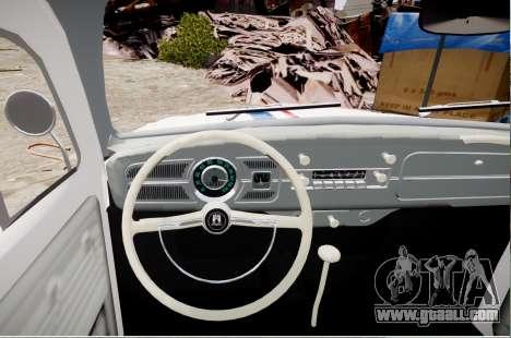 Volkswagen Beetle 1962 for GTA 4 back left view