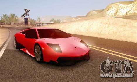 Lamborghini Murcielago LP670-4 SV for GTA San Andreas upper view