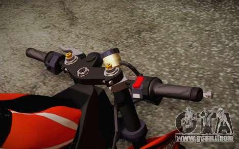 Ninja ZX6R Stunt Setup for GTA San Andreas back view