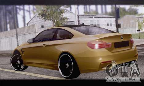 BMW M4 F80 Stanced for GTA San Andreas left view