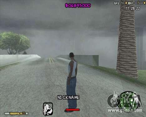 HUD by Romka MC for GTA San Andreas