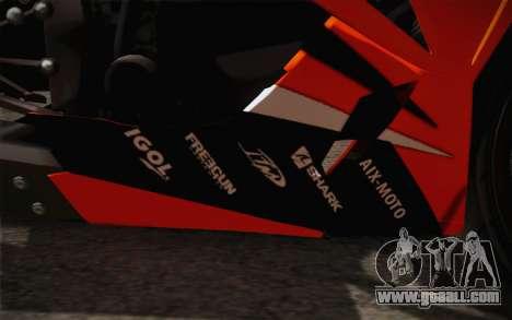 Ninja ZX6R Stunt Setup for GTA San Andreas side view