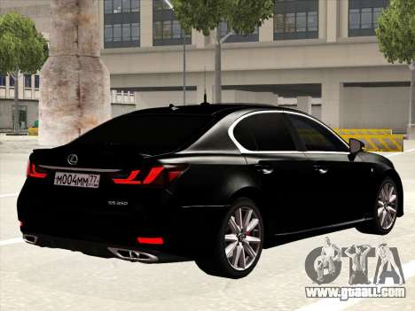 Lexus GS350F Sport for GTA San Andreas right view