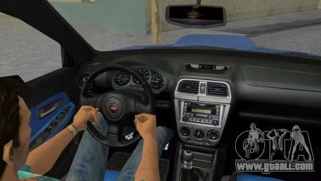 Subaru Impreza WRX STI 2005 for GTA Vice City inner view