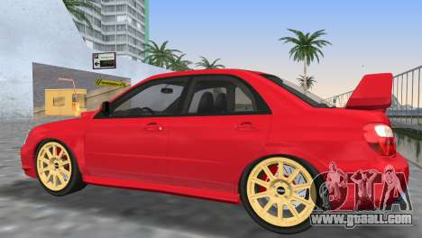 Subaru Impreza WRX STI 2005 for GTA Vice City bottom view