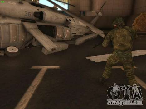 Bomber of the modern Russian Army for GTA San Andreas second screenshot