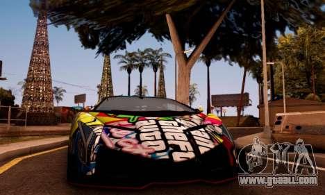 Lamborghini LP750-4 2013 Veneno Stikers Editions for GTA San Andreas left view
