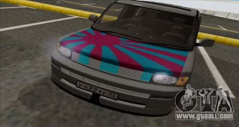 Toyota BB for GTA San Andreas back left view