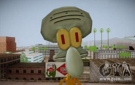 Squidward Tentacles for GTA San Andreas third screenshot