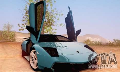 Lamborghini Murcielago LP670-4 SV for GTA San Andreas back view
