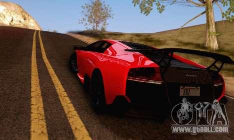 Lamborghini Murcielago LP670-4 SV for GTA San Andreas back left view