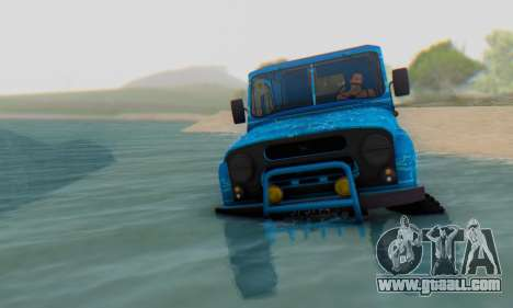 UAZ 469 Blue Star for GTA San Andreas back view