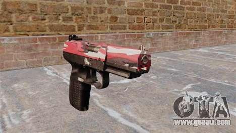 Gun FN Five-seveN urban Red for GTA 4