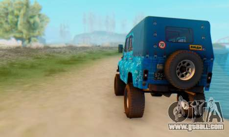 UAZ 469 Blue Star for GTA San Andreas right view