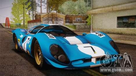 Ferrari 330 P4 1967 HQLM for GTA San Andreas side view