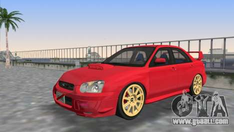 Subaru Impreza WRX STI 2005 for GTA Vice City upper view