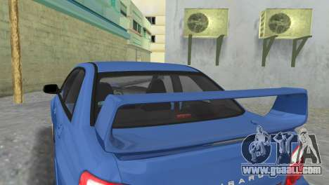 Subaru Impreza WRX STI 2005 for GTA Vice City back view