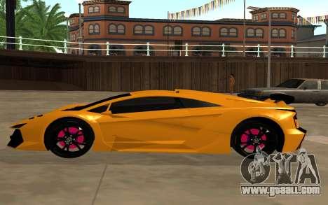GTA 5 Zentorno for GTA San Andreas left view