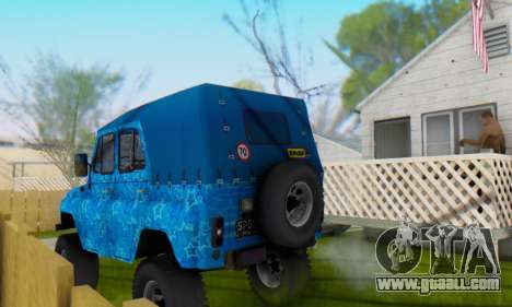 UAZ 469 Blue Star for GTA San Andreas engine