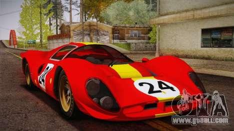 Ferrari 330 P4 1967 HQLM for GTA San Andreas inner view