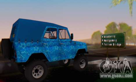 UAZ 469 Blue Star for GTA San Andreas upper view