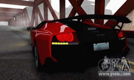 Lamborghini Murcielago LP670-4 SV for GTA San Andreas bottom view