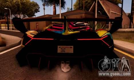 Lamborghini LP750-4 2013 Veneno Stikers Editions for GTA San Andreas back left view