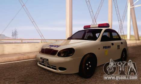 Daewoo Lanos Police for GTA San Andreas left view