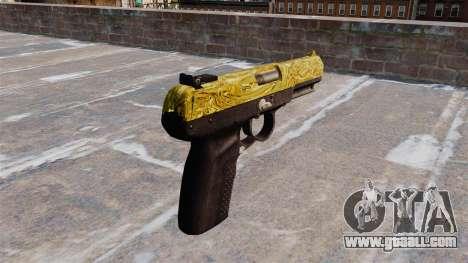 Gun FN Five seveN Gold for GTA 4 second screenshot