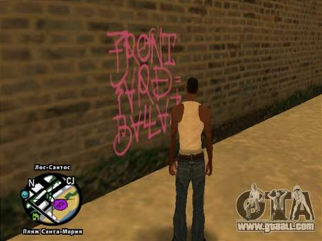 Tags Map Mod v1.0 for GTA San Andreas second screenshot