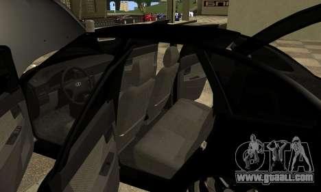Lada 2170 Priora for GTA San Andreas upper view