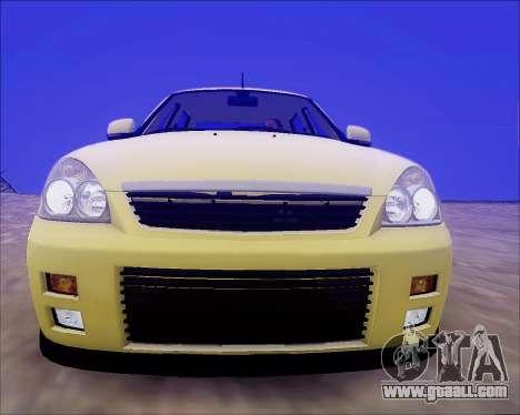 Lada 2170 Priora Tuneable for GTA San Andreas wheels
