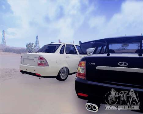 Lada 2170 Priora Tuneable for GTA San Andreas back view