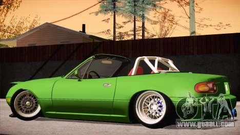 Mazda Miata Hellaflush for GTA San Andreas inner view