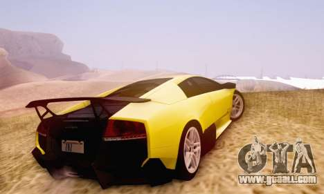 Lamborghini Murcielago LP670-4 SV for GTA San Andreas inner view