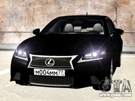 Lexus GS350F Sport for GTA San Andreas left view