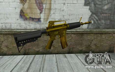 Golden M4 without sight for GTA San Andreas second screenshot