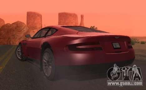 Aston Martin DBR9 for GTA San Andreas back view